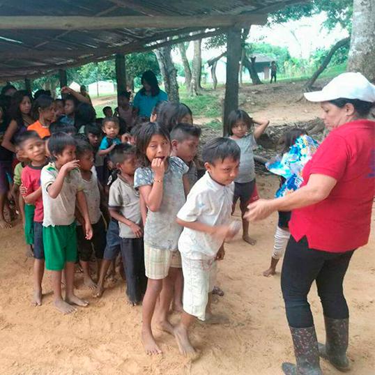 Atención a resguardos indígenas de Orocue y Tauramena, en Casanare.